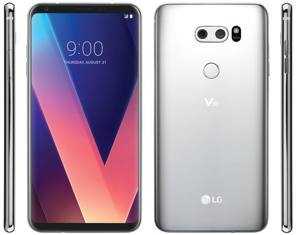 LG V30, Evan Blassin aiemmin vuotama kuva.