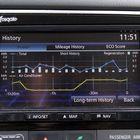 Keskikonsolin näytölle saa monenlaista tietoa ajoneuvon kulutuksesta