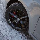 Mustat vanteet sopivat hyvin muun mustan optiikan kanssa autoon