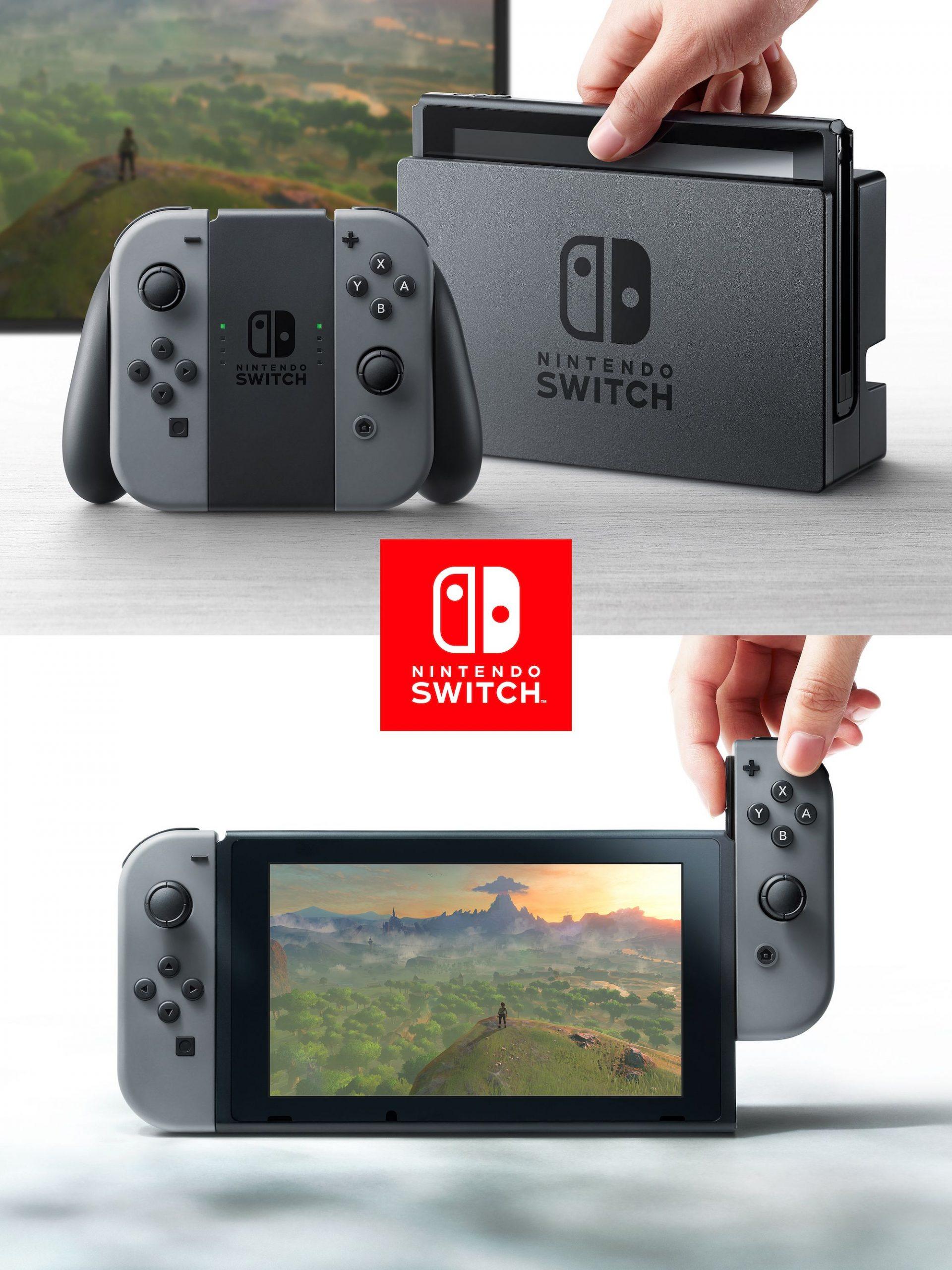 Nintendo Switch toimii sekä televisioon liitettävänä että kannettavana pelikonsolina.