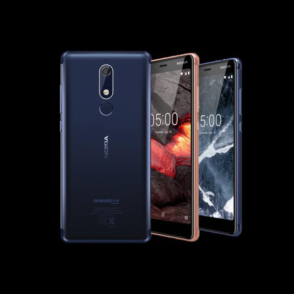Nokia 5.1:n runko on edelleen täysin alumiinia. Näyttö on nyt Nokia 5:n 5,2 tuuman 16:9-näytön sijaan 5,5 tuumaa 18:9-kuvasuhteella.