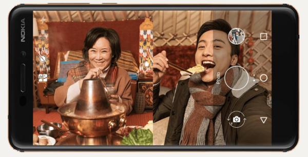 Uudella Nokia 6:lla onnistuu bothie-kuvaus.