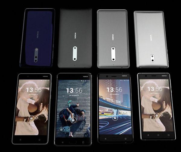 Videolla nähtiin rinnakkain neljä puhelinta. Vasemmalla rivistössä esiintyvä kaksoiskamerapuhelin on toistaiseksi mysteeri, kuten myös sen vierestä löytyvä puhelin.