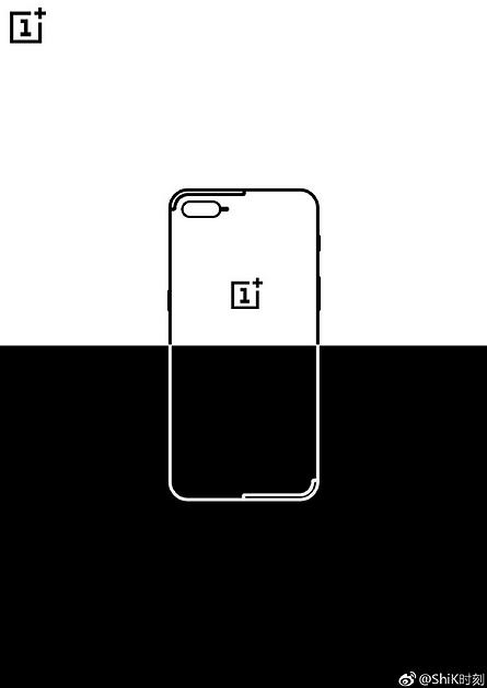 Onko OnePlus 5:n kaksoiskamera järjestelty Applen mallin mukaisesti? Ehkäpä. Kuva voi vihjata myös uudenlaisesta antennisuunnittelusta, sillä antennijuovat ylä- ja alakulmissa eivät tavallisesta poiketen ole koko puhelimen levyiset.