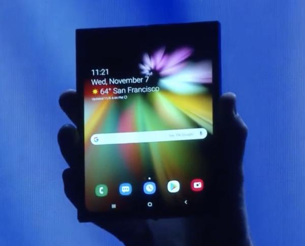 Samsungin laite avattuna.