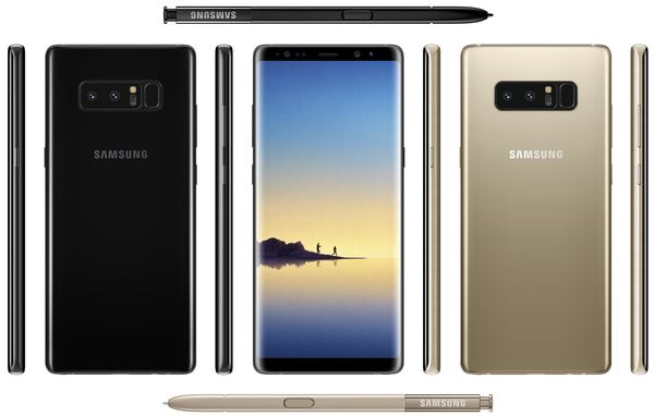 Samsung Galaxy Note8. Evan Blassin vuotama kuva.