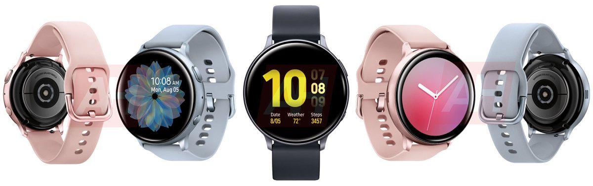 Samsung Galaxy Watch Active2 eri väreissä: Kuva: AndroidHeadlines.