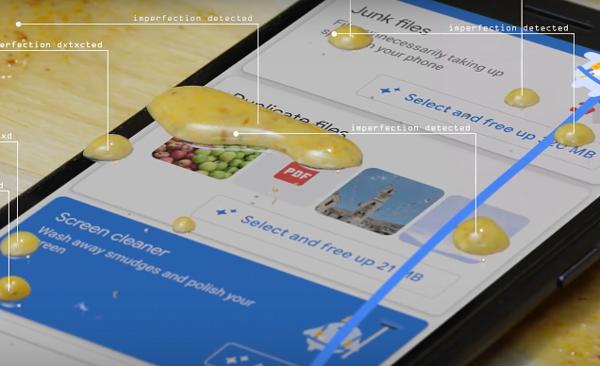 Googlen uunituore näytönpuhdistaja-toiminto.
