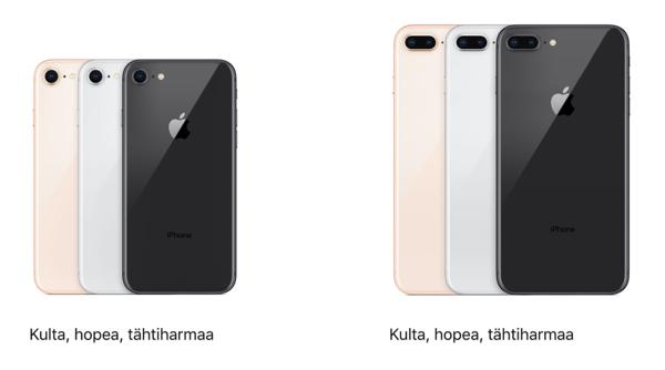iPhone 8 -värivaihtoehdot.
