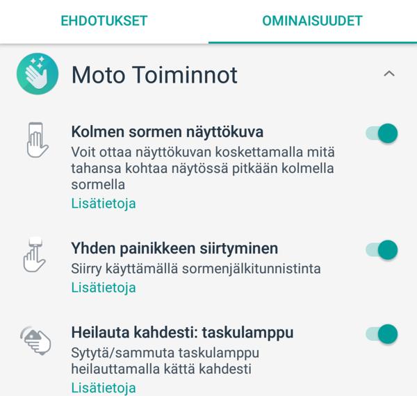 Moto-sovellus piristää käyttökokemusta erilaisilla toiminnoilla.