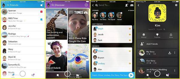 Snapchatin uudistuksia: kavereiden tarinat siirtyvät samaan näkymään keskustelujen kanssa, Discover-osio uudistuu.