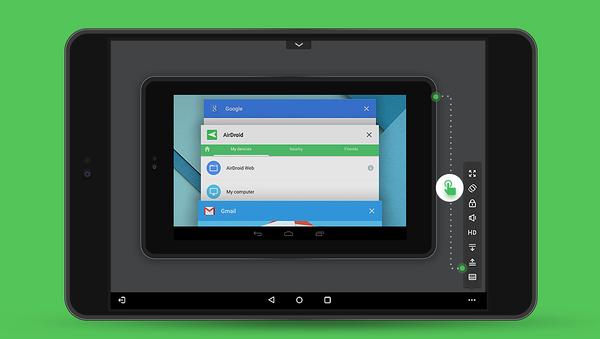 AirMirror mahdollistaa Android-puhelimen etäkäytön toisella myös toisella älylaitteella.