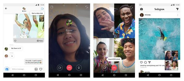 Instagram-videopuhelut ovat nyt mahdollisia isommallakin porukalla.