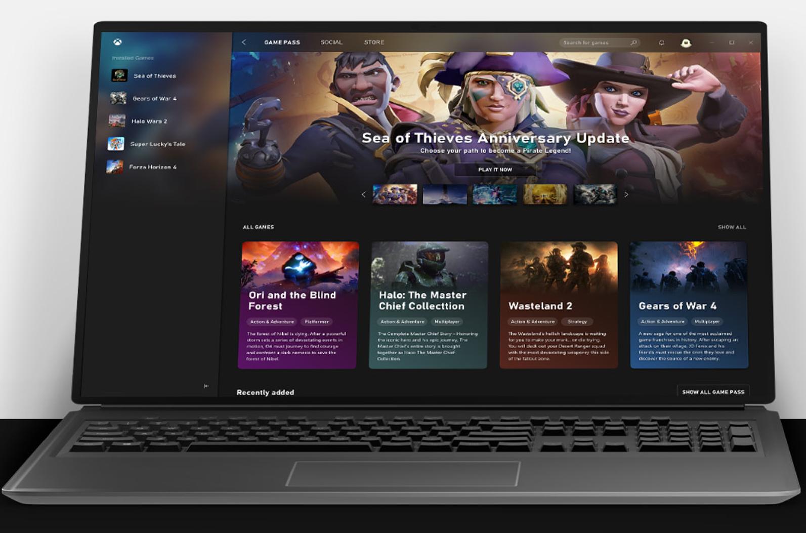 Uusi Xbox Game Pass PC toimii erillisen sovelluksen kautta.