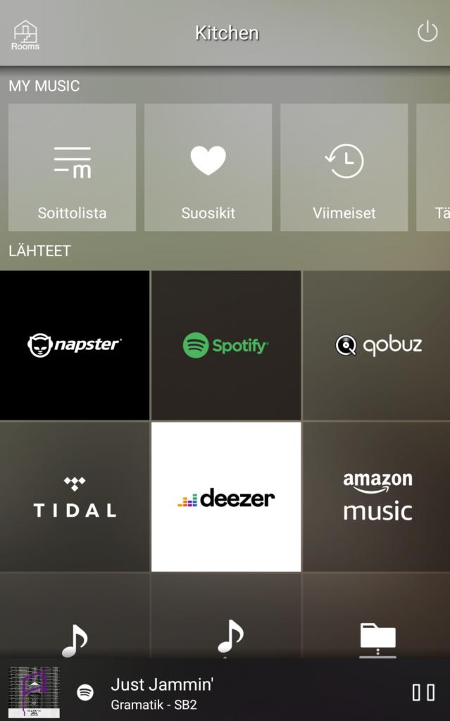MusicCast inputs