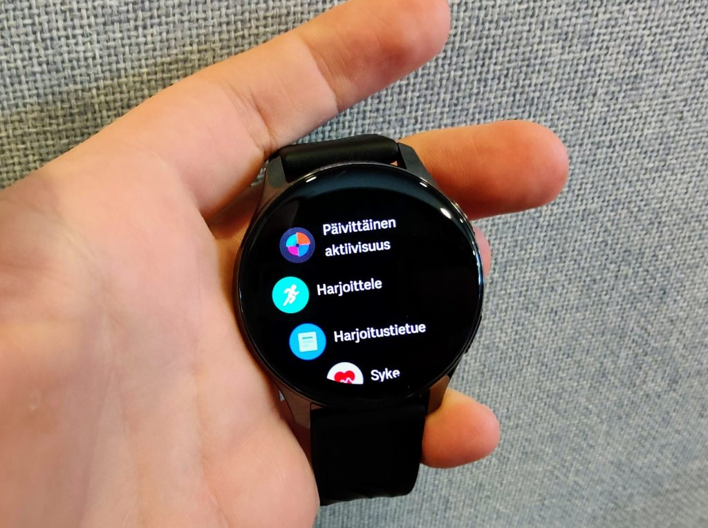 OnePlus Watch valikko