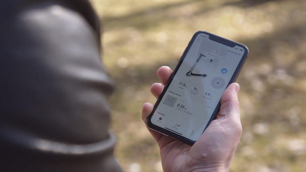 Ninebot-Segway potkulautojen kanssa käytettävä mobiilisovellus
